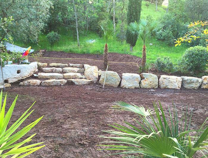Aménagements murets allées plantations var